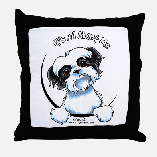 B/W Shih Tzu IAAM Throw Pillow