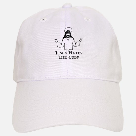 Jesus Hates The Cubs Baseball Baseball Cap