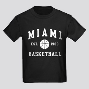 Miami Basketball Kids Dark T-Shirt