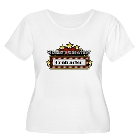 World's Greatest Contractor Women's Plus Size Scoo