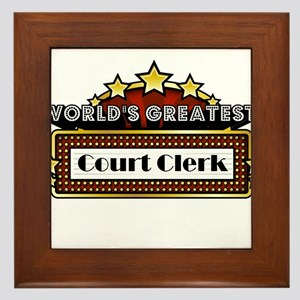 World's Greatest Court Clerk Framed Tile