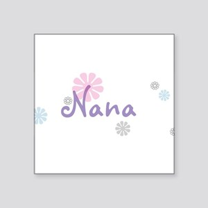 "Nana Flowers Square Sticker 3"" x 3"""