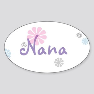 Nana Flowers Sticker (Oval)