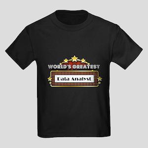 World's Greatest Data Analyst Kids Dark T-Shirt