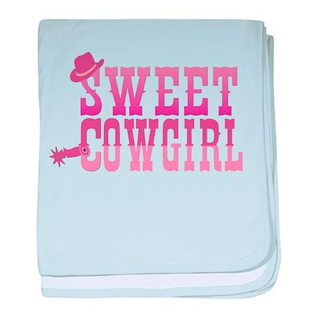 Sweet Cowgirl baby blanket