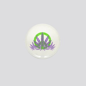 Peace With Purple Mini Button