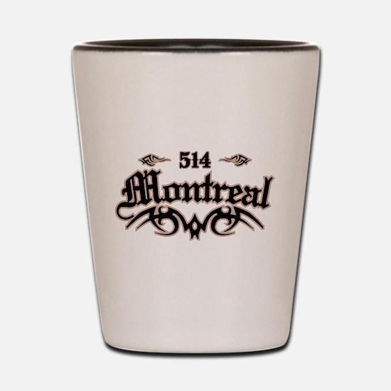 Montreal 514 Shot Glass