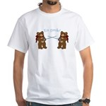 Teddy Bear Fencers White T-Shirt