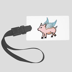 Flying Pig Large Luggage Tag