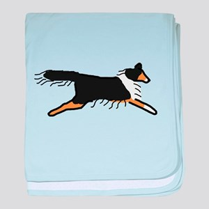 Tri-Color Sheltie baby blanket
