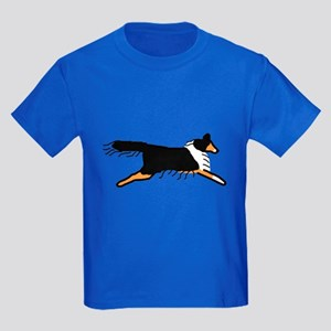 Tri-Color Sheltie Kids Dark T-Shirt