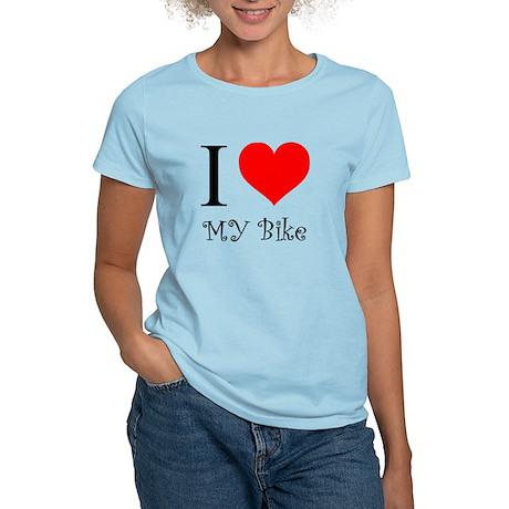 I Love my bike Women's Light T-Shirt