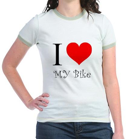 I Love my bike Jr. Ringer T-Shirt