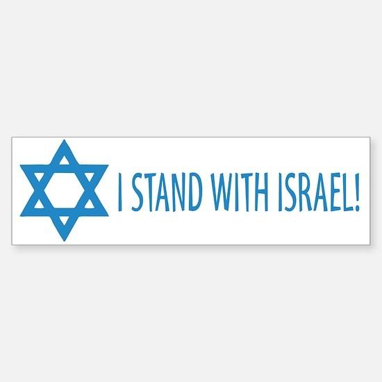 I Stand with Israel Bumper Bumper Bumper Sticker