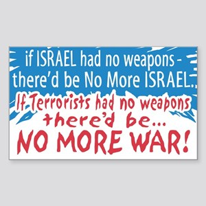 I Stand with Israel Rectangle Sticker