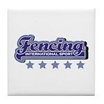 Fencing Team Spirit Tile Coaster
