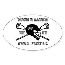 Lacrosse Team Black Alpha Sticker