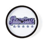 Fencing Team Spirit Wall Clock