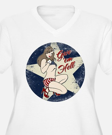GIVE 'EM HELL PIN-UP T-Shirt