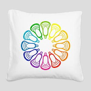 Lacrosse Spectrum Square Canvas Pillow