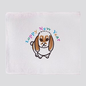 Loppy New Year Throw Blanket