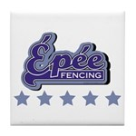 Epee Fencing Tile Coaster