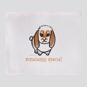 somebunny special lop Throw Blanket