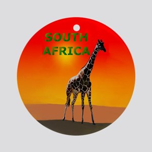 Giraffe South Africa Ornament (Round)