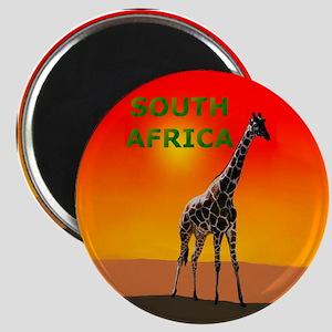 Giraffe South Africa Magnet