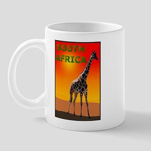 Giraffe South Africa Mug