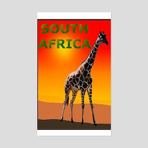 Giraffe South Africa Rectangle Sticker