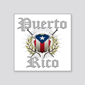 "Puerto Rico Square Sticker 3"" x 3"""