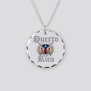 Puerto Rico Necklace Circle Charm