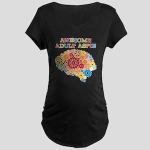 Aspie Adult Autism Maternity Dark T-Shirt