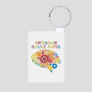 Aspie Adult Autism Aluminum Photo Keychain