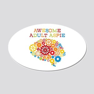Aspie Adult Autism 20x12 Oval Wall Decal