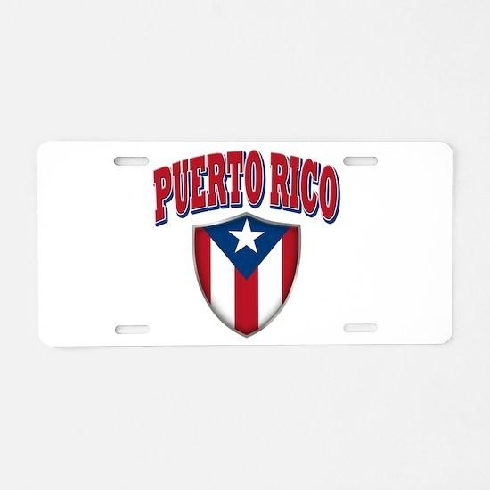 Puerto Rico Aluminum License Plate