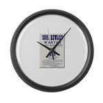 Leo Botrick Wanted Large Wall Clock