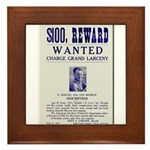 Leo Botrick Wanted Framed Tile