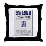 Leo Botrick Wanted Throw Pillow