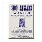 Leo Botrick Wanted Square Car Magnet 3