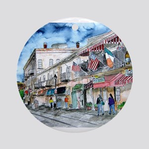 savannah river street painting Ornament (Round)