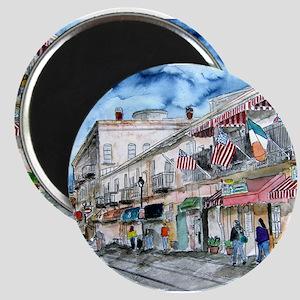 savannah river street painting Magnet