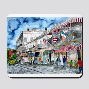savannah river street painting Mousepad