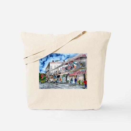 savannah river street painting Tote Bag