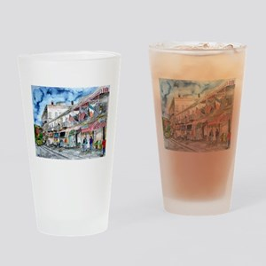 savannah river street painting Drinking Glass