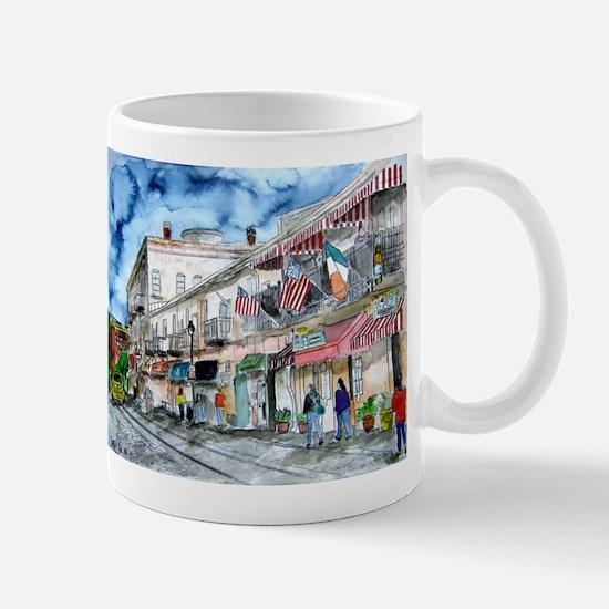 savannah river street painting Mug