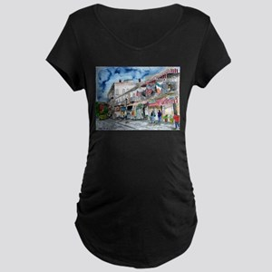 savannah river street painting Maternity Dark T-Sh