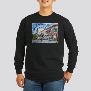 savannah river street painting Long Sleeve Dark T-