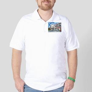 savannah river street painting Golf Shirt